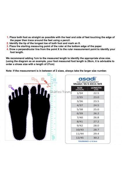 100% Original Asadi 6557 Black Shoe   Kasut Sekolah Asadi Hitam