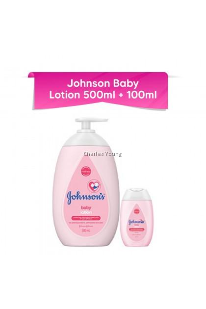Johnson's Baby Lotion 24hrs Moisturization (500ML) + FREE Johnson's Baby Lotion 24hrs Moisturization (100ML)