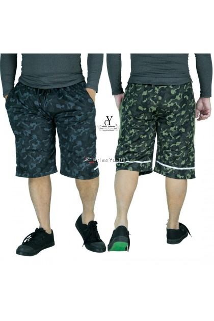 CY 5204 ARMY DESIGN PLUS SIZE KPOP EXERCISE GYM TRAINING WEAR SHORT PANT / SELUAR PENDEK ASKAR SIZE BESAR