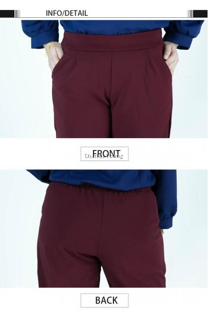 CY 7706 Plus Size Women pants Casual Summer Cotton Linen Lady Ankle-length Capris Trousers Pencil Pant / Seluar Panjang Cotton
