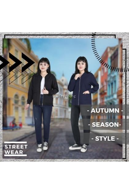 CY 4487 Korea Design Plus Size Woman Sweater Spring Autumn / Sweater Perempuan Besar / Baju Sejuk Perempuan