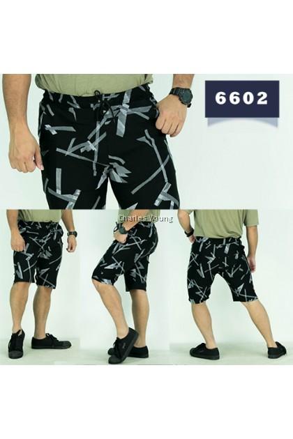 CY 6605 Casual Fashion Men Skinny Runway Straight Short Slim Fit Pant / Seluar Casual Lelaki