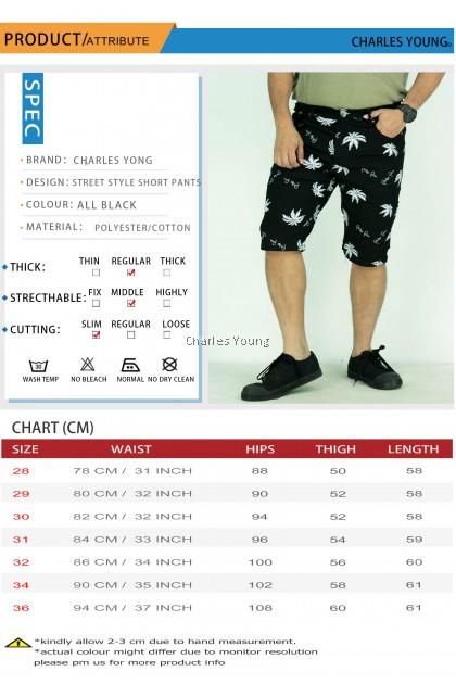 CY 7121 FLEXI STYLE  MAN CASUAL SHORT  PANT  / SELUAR VIRAL / SELUAR DESIGN KOREA / KOREAN STYLE SHORTS