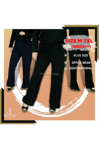 CY 118 PLUS SIZE WOMAN CASUAL / WORK STRECTAHBLE LONG PANTS BIG / SELUAR PANJANG SIZE BESAR / OFFICE PANT 5XL 6XL 7XL BL