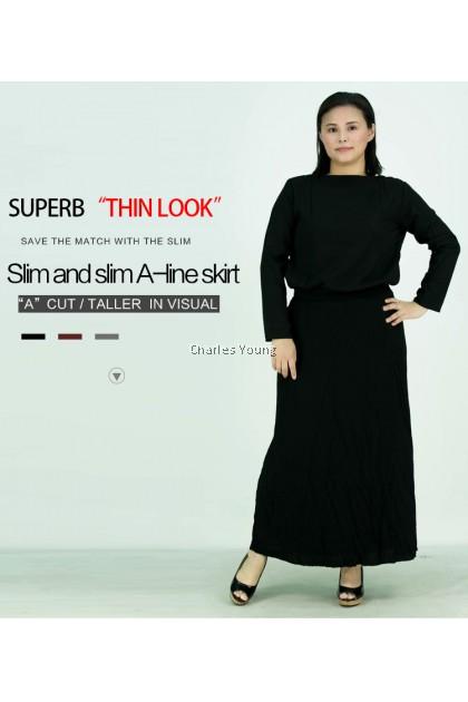 CY 0317 WOMAN LONG SKIRT KAIN PANJANG MUSLIMAH DRESS A-LINE / LONG SKIRT EUROPEAN STYLE / PLEAD SKIRT