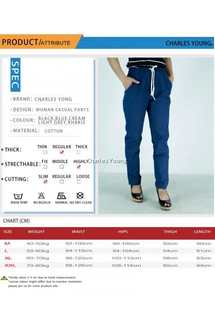 CY 112 Women pants Casual Summer Cotton Linen Lady Ankle-length Capris Trousers Pencil Pant / Seluar Panjang Viral