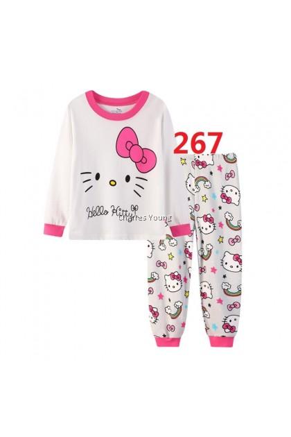 CY 146915 CHILDREN KID PYJAMAS SLEEPWEAR DISNEY CARTOON HELLO KITTY B