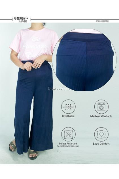 CY 147356 WOMAN CULOTTE STRAIGHT BOTTOM LONG PANTS / SELUAR PANJANG OFFICE WANITA
